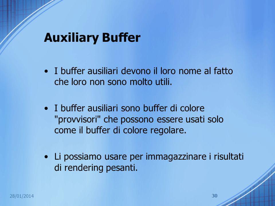 Auxiliary Buffer I buffer ausiliari devono il loro nome al fatto che loro non sono molto utili.
