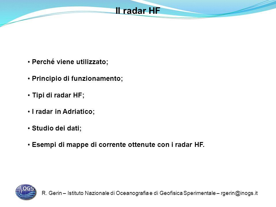 Il radar HF Perché viene utilizzato; Principio di funzionamento;