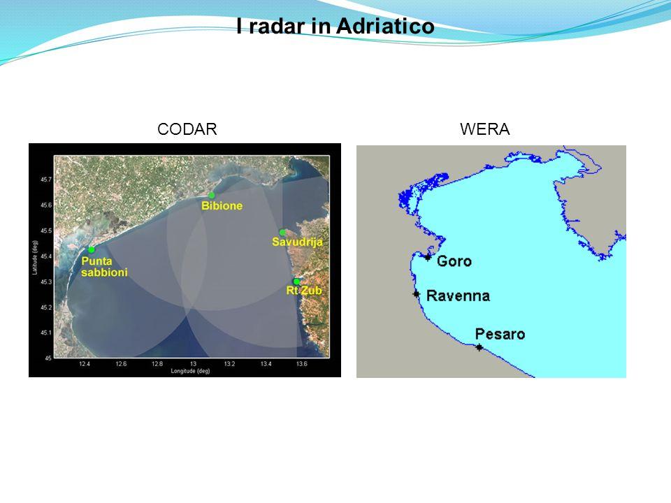 I radar in Adriatico CODAR WERA