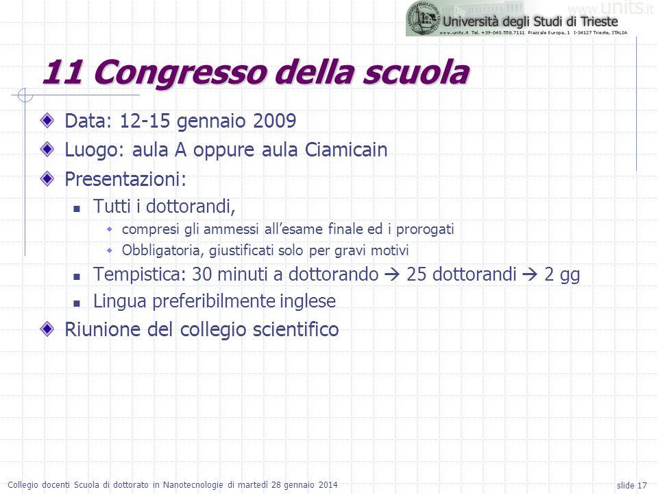 11 Congresso della scuola