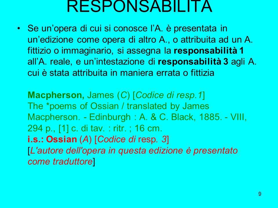 RESPONSABILITÀ