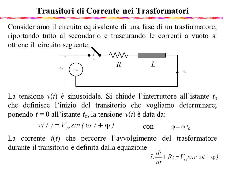 Transitori di Corrente nei Trasformatori