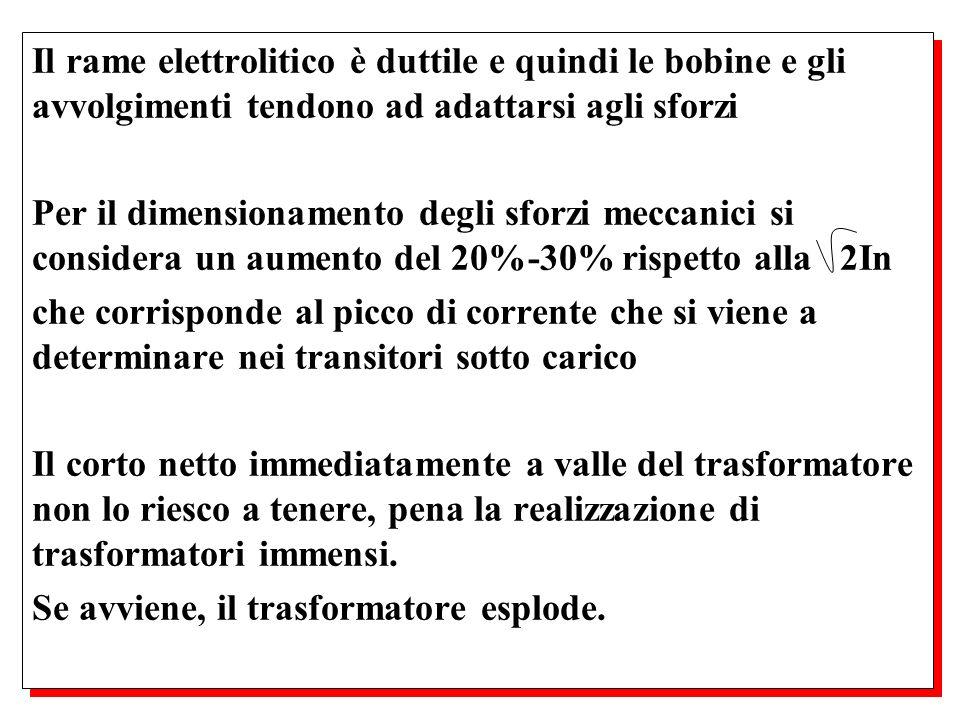 Il rame elettrolitico è duttile e quindi le bobine e gli avvolgimenti tendono ad adattarsi agli sforzi