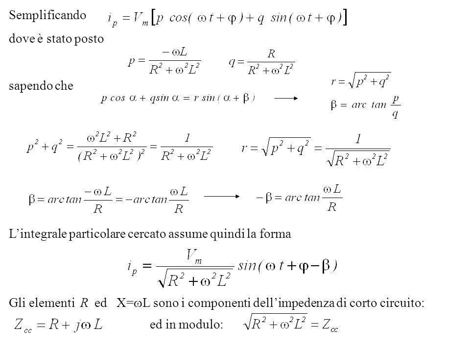 Semplificandodove è stato posto. sapendo che. L'integrale particolare cercato assume quindi la forma.