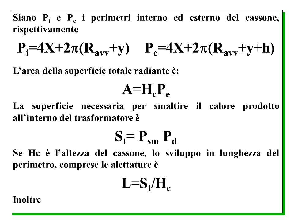 Pi=4X+2(Ravv+y) Pe=4X+2(Ravv+y+h)