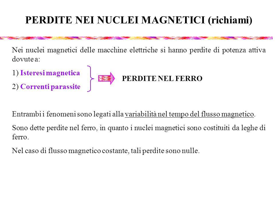 PERDITE NEI NUCLEI MAGNETICI (richiami)