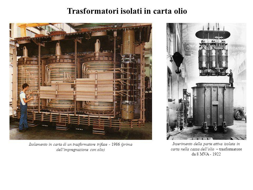 Trasformatori isolati in carta olio
