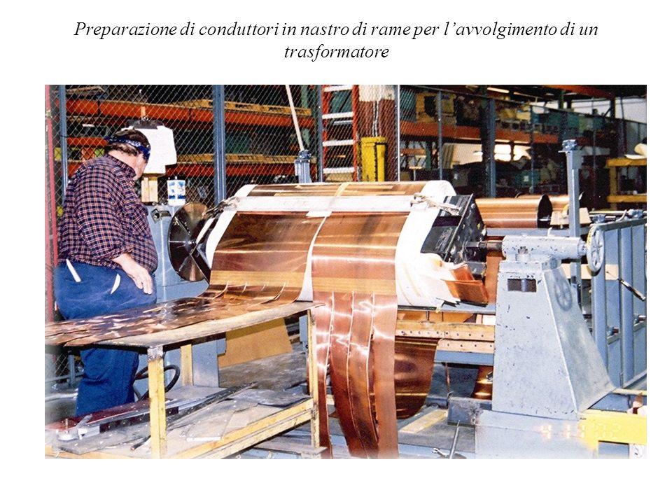 Preparazione di conduttori in nastro di rame per l'avvolgimento di un trasformatore