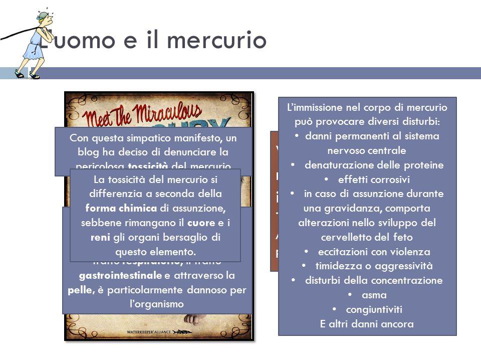 L'uomo e il mercurio Venite a conoscere il miracolo: