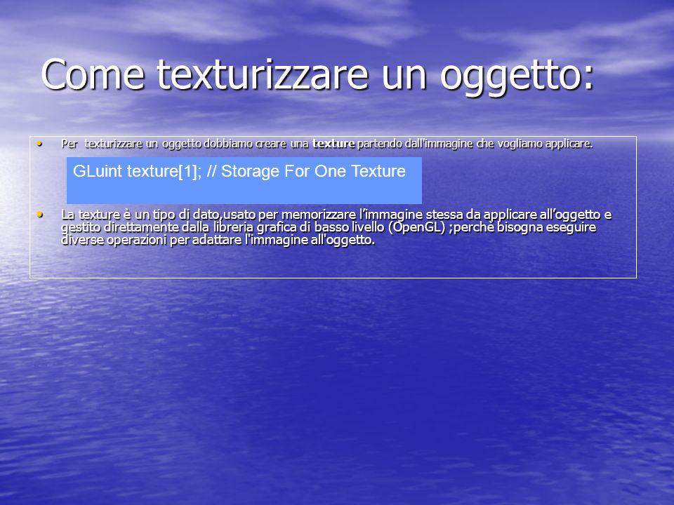 Come texturizzare un oggetto:
