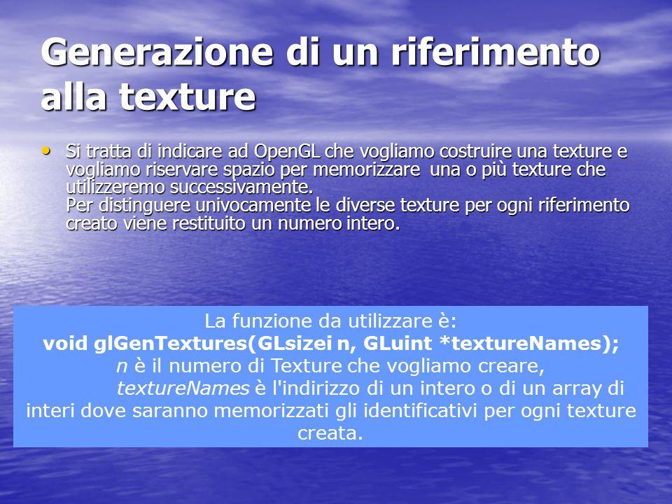 Generazione di un riferimento alla texture