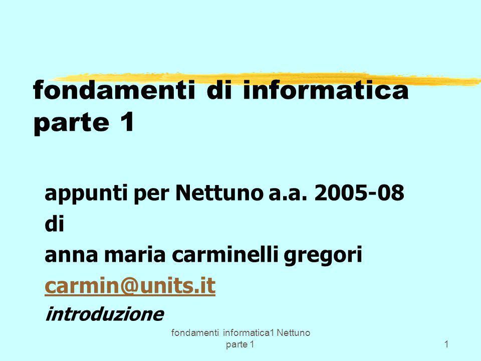 fondamenti di informatica parte 1