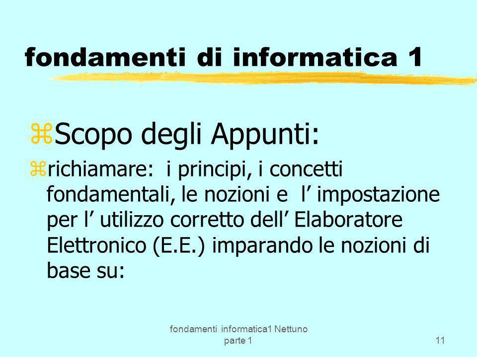 fondamenti di informatica 1