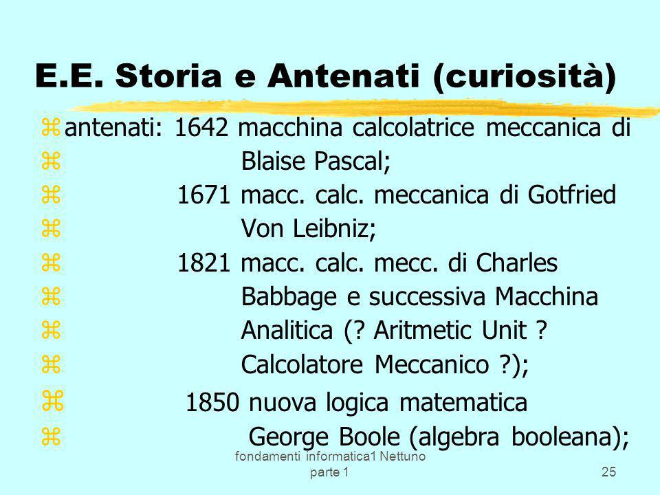 E.E. Storia e Antenati (curiosità)