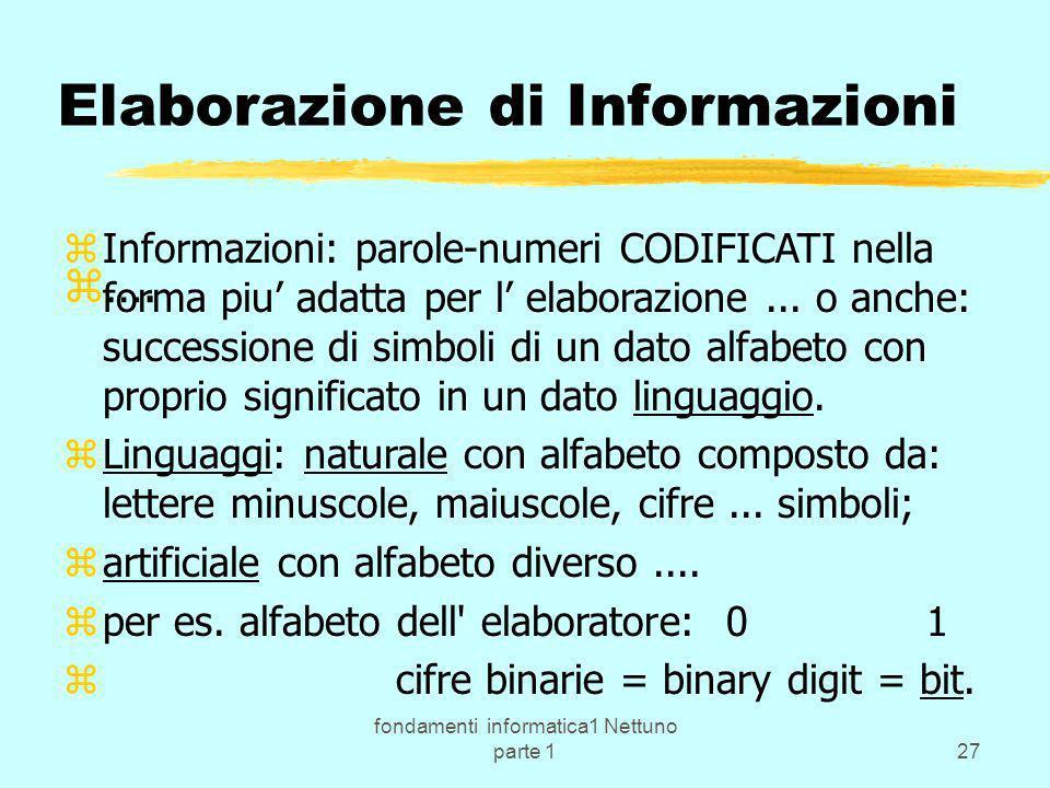 Elaborazione di Informazioni