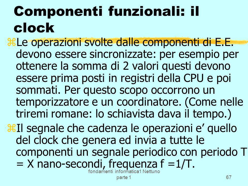 Componenti funzionali: il clock