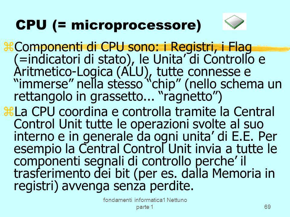 CPU (= microprocessore)