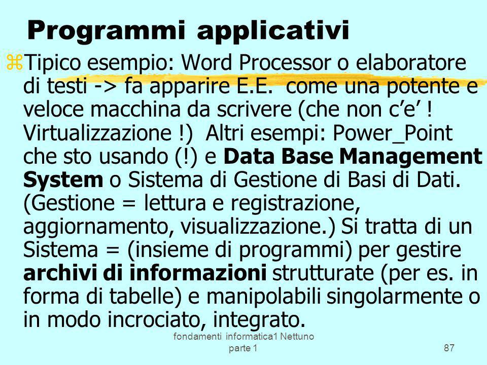 Programmi applicativi