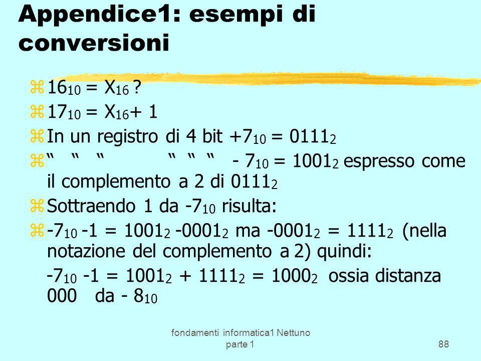 Appendice1: esempi di conversioni