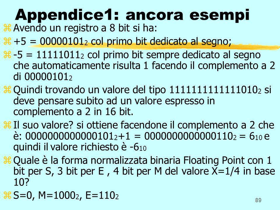 Appendice1: ancora esempi