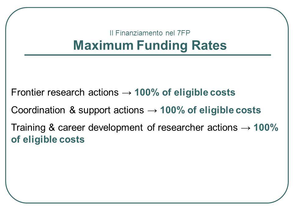Il Finanziamento nel 7FP