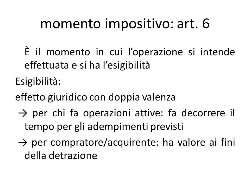 momento impositivo: art. 6