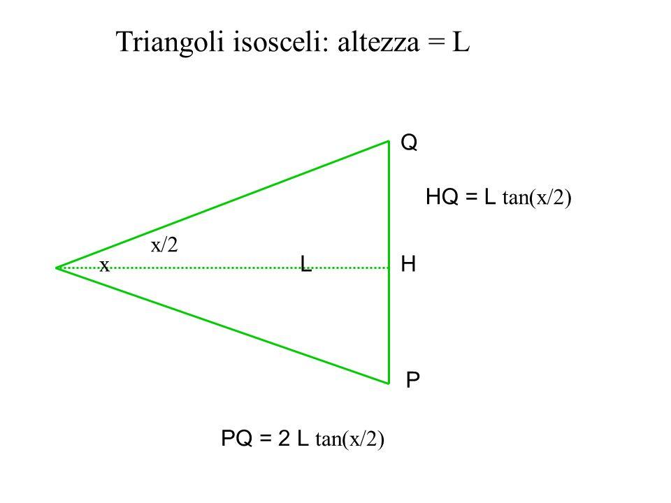 Triangoli isosceli: altezza = L