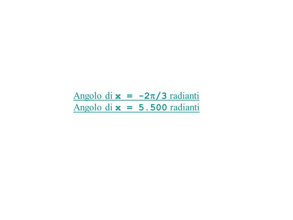 Angolo di x = -2p/3 radianti