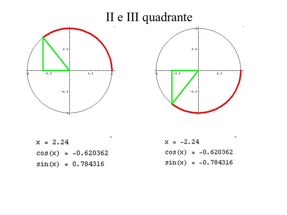 II e III quadrante