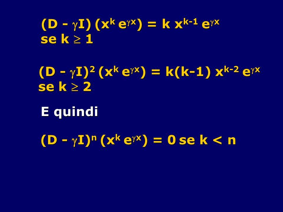 (D - I) (xk ex) = k xk-1 ex