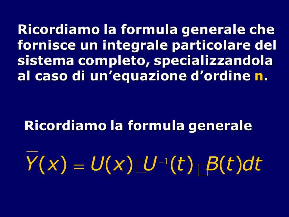 ò Y ( x ) = U t × B d Ricordiamo la formula generale che