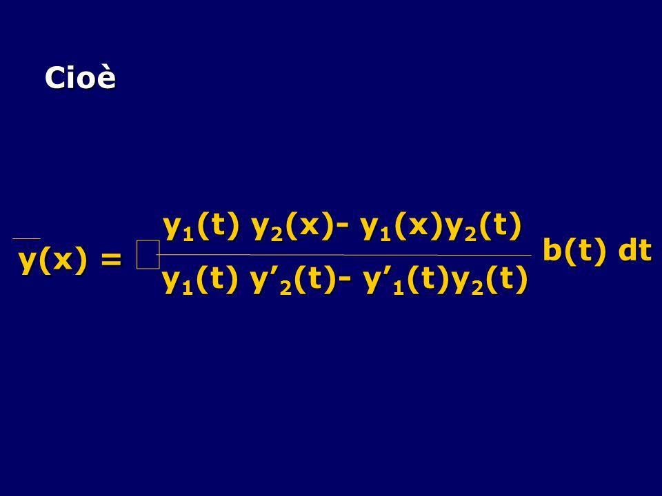 Cioè y(x) = ò y1(t) y2(x)- y1(x)y2(t) y1(t) y'2(t)- y'1(t)y2(t) b(t) dt