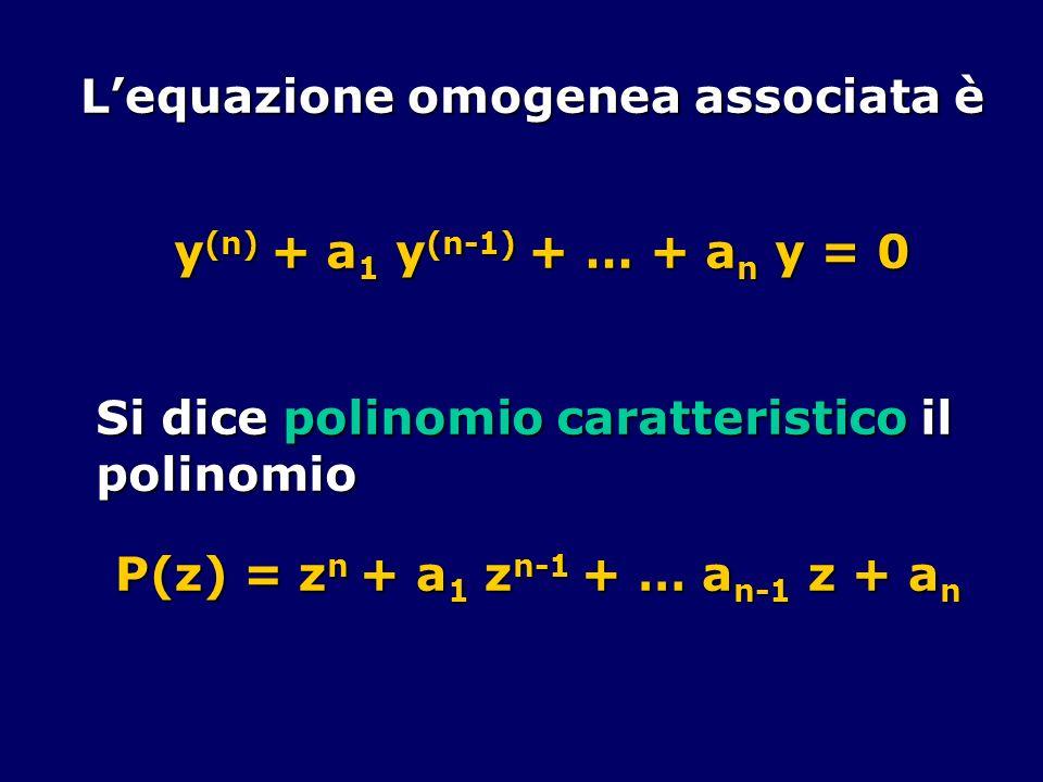 L'equazione omogenea associata è