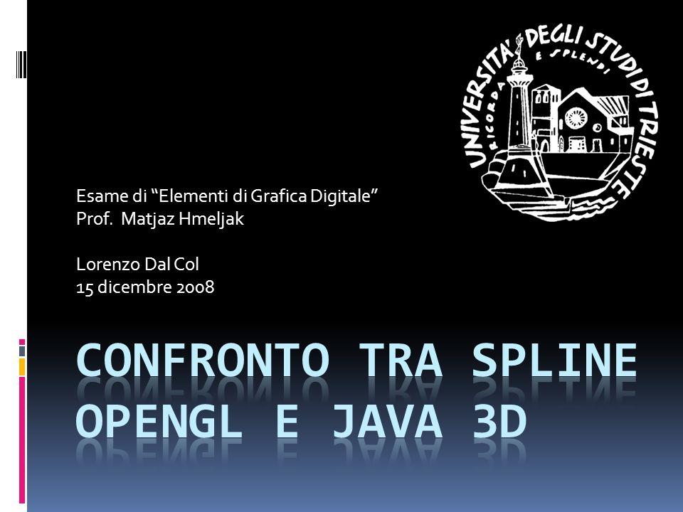 Confronto tra spline OpenGL e Java 3D