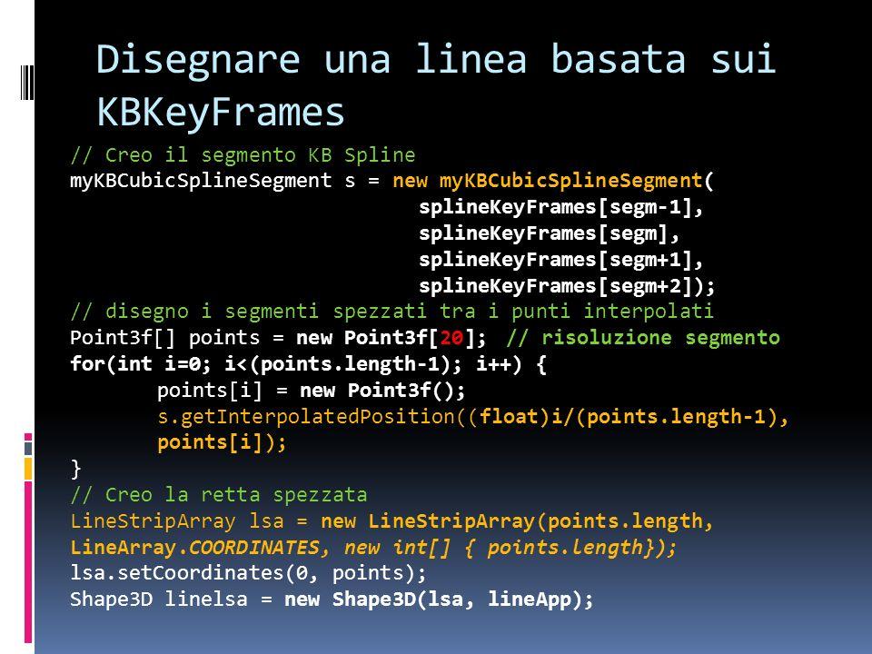 Disegnare una linea basata sui KBKeyFrames