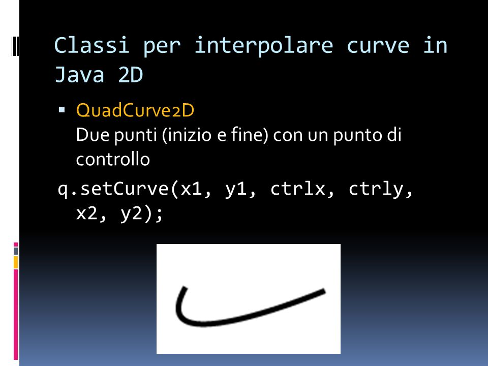 Classi per interpolare curve in Java 2D