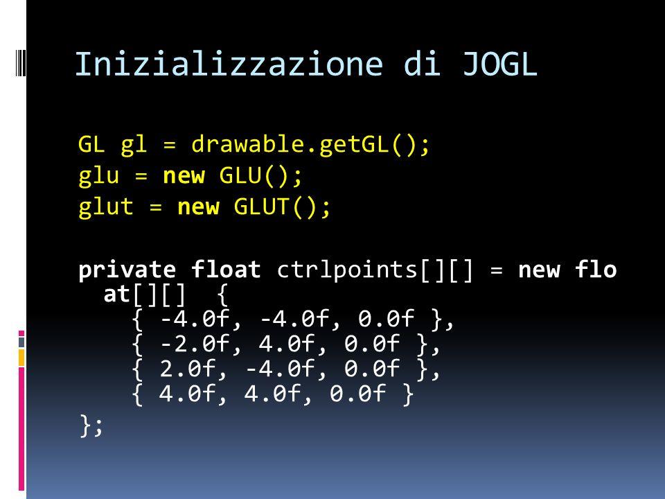 Inizializzazione di JOGL