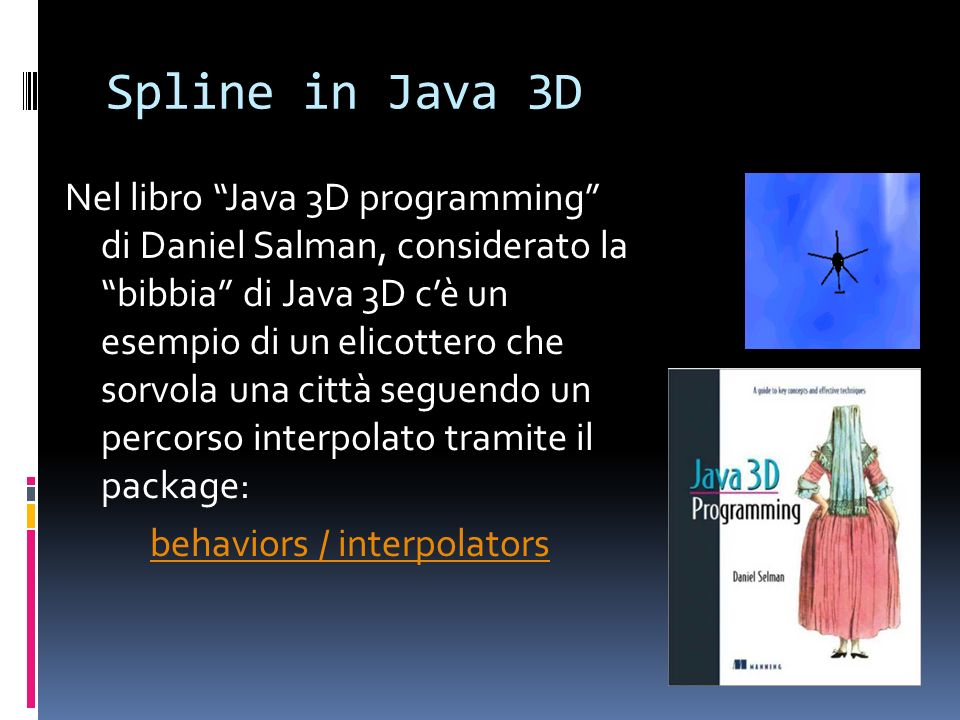 Spline in Java 3D