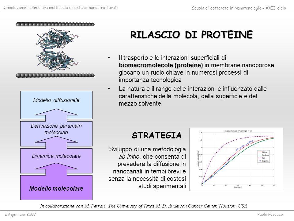 Derivazione parametri molecolari