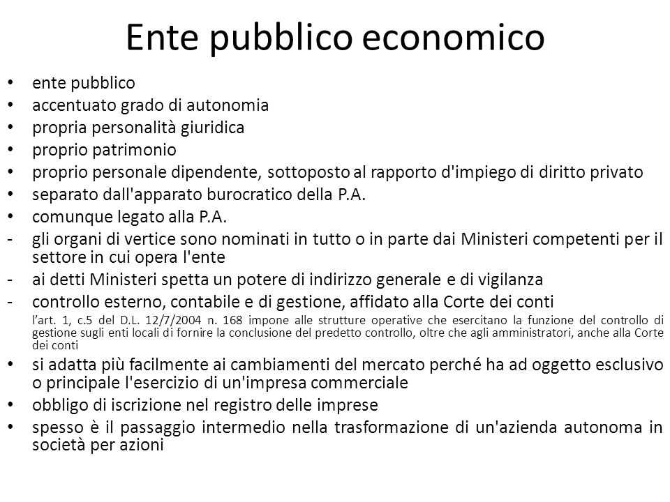 Ente pubblico economico