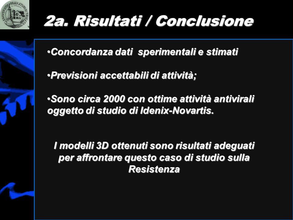 2a. Risultati / Conclusione