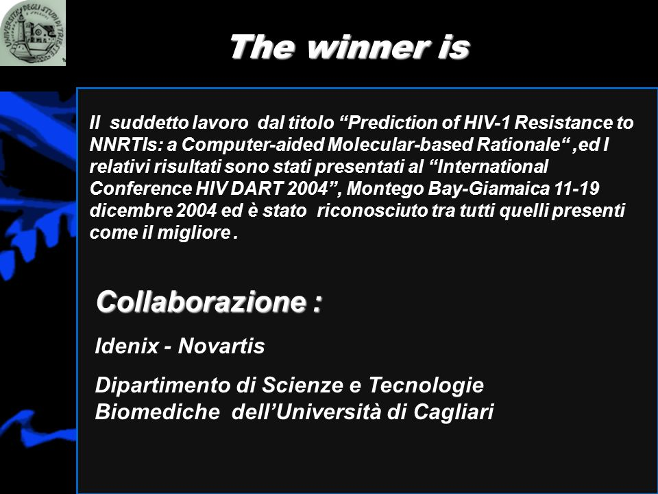 The winner is Collaborazione : Idenix - Novartis