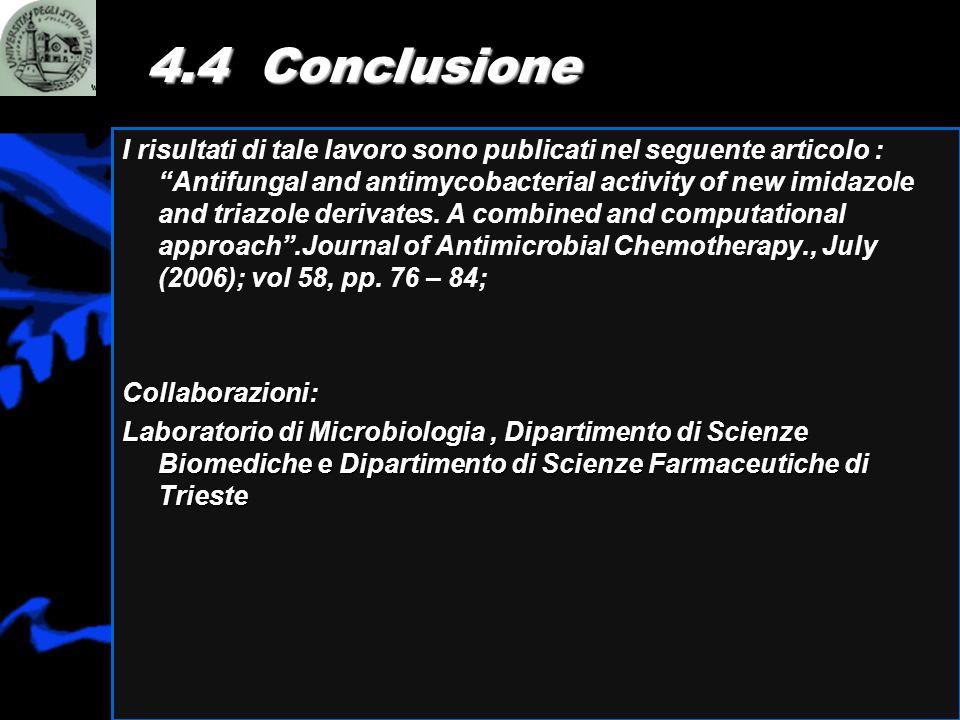 4.4 Conclusione