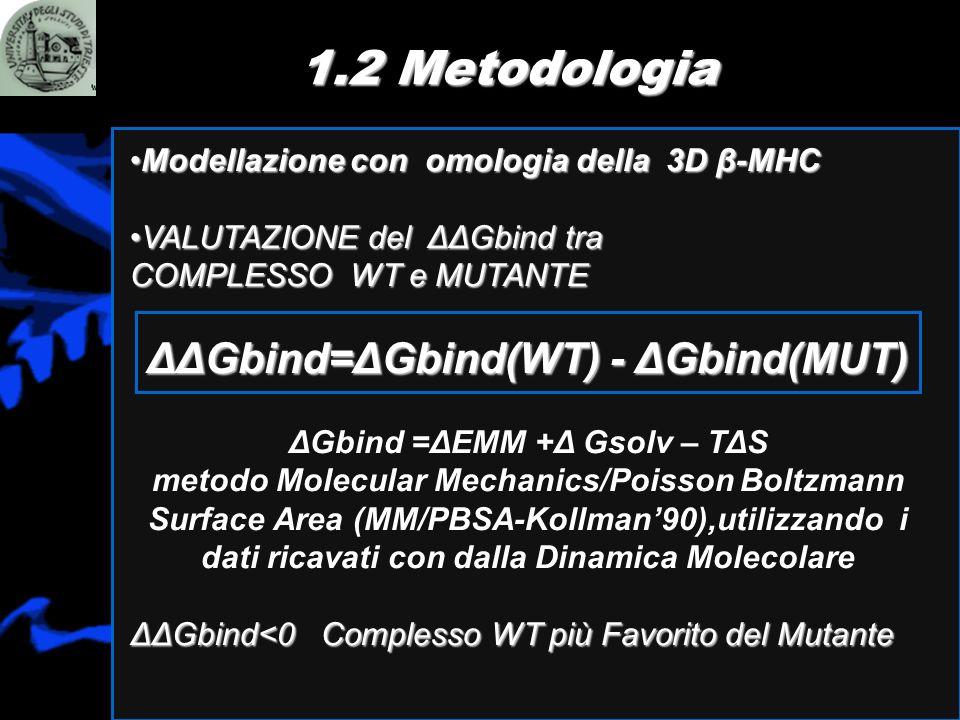 ΔΔGbind=ΔGbind(WT) - ΔGbind(MUT) ΔGbind =ΔEMM +Δ Gsolv – TΔS