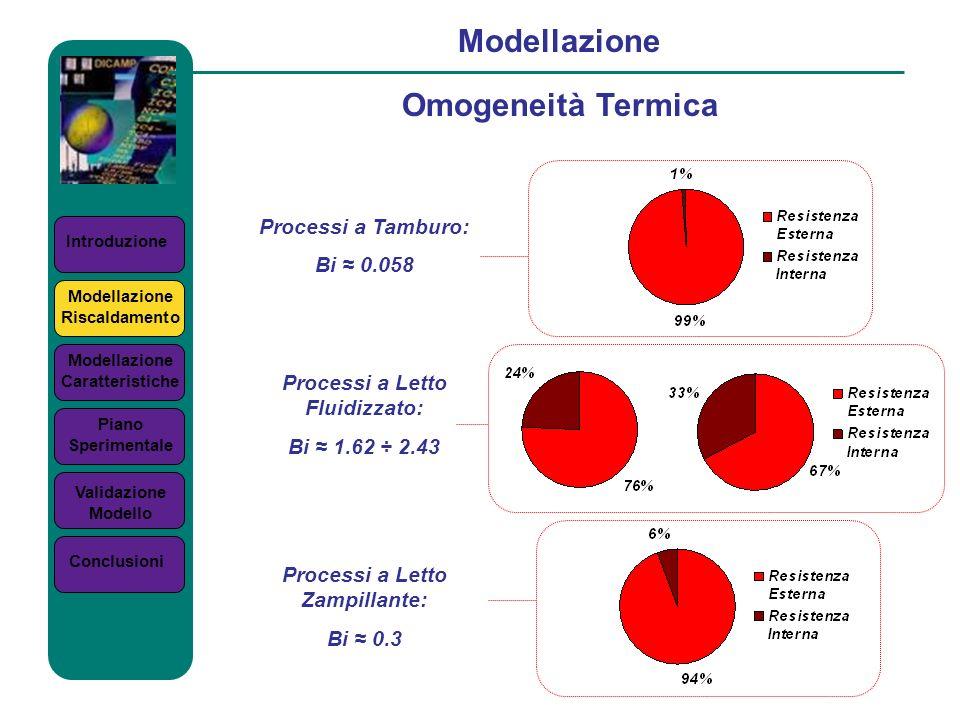 Modellazione Omogeneità Termica Processi a Tamburo: Bi ≈ 0.058