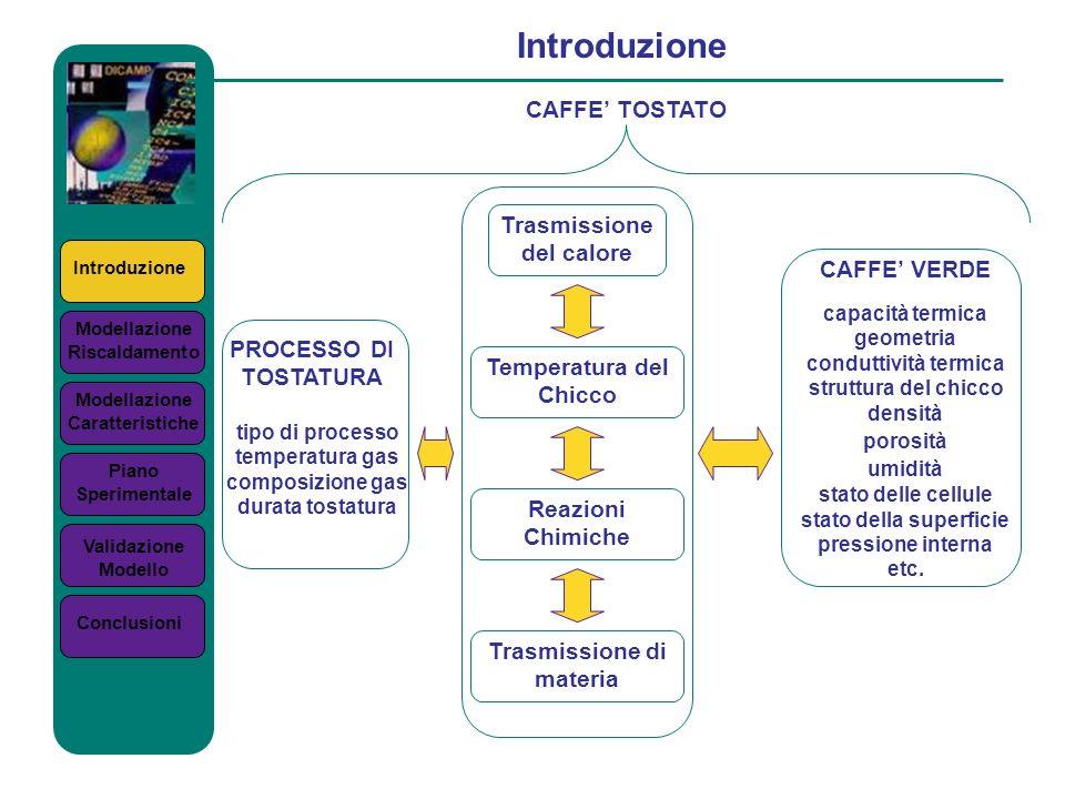 Introduzione CAFFE' TOSTATO Trasmissione del calore CAFFE' VERDE