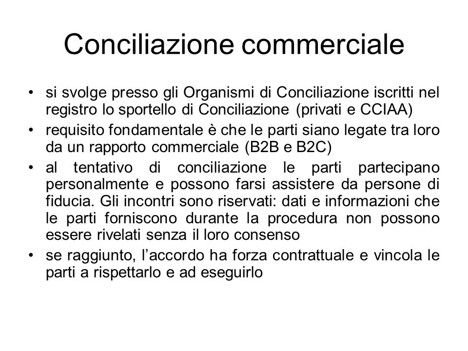 Conciliazione commerciale