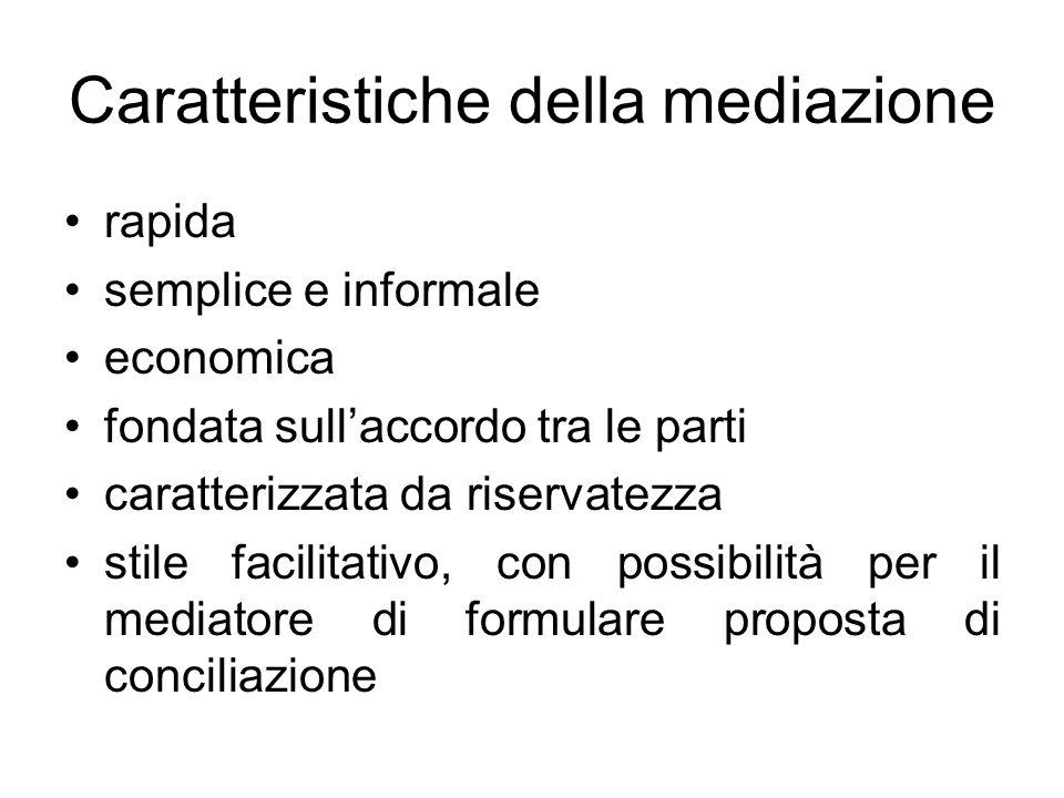 Caratteristiche della mediazione