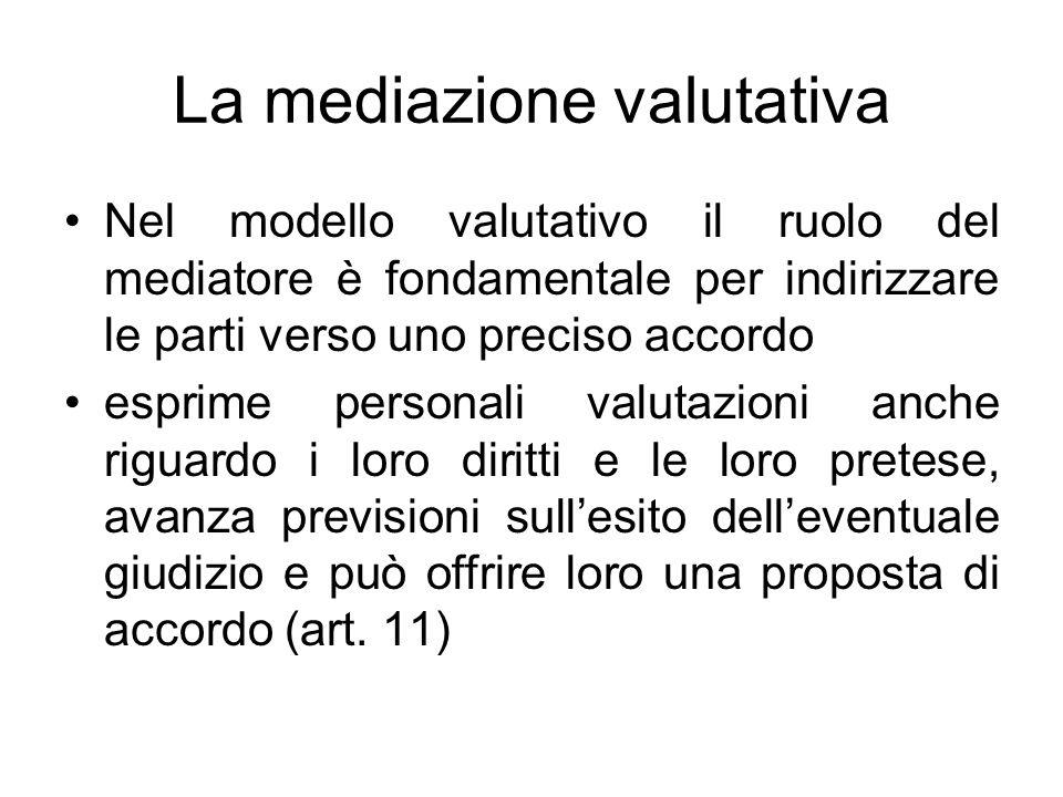 La mediazione valutativa