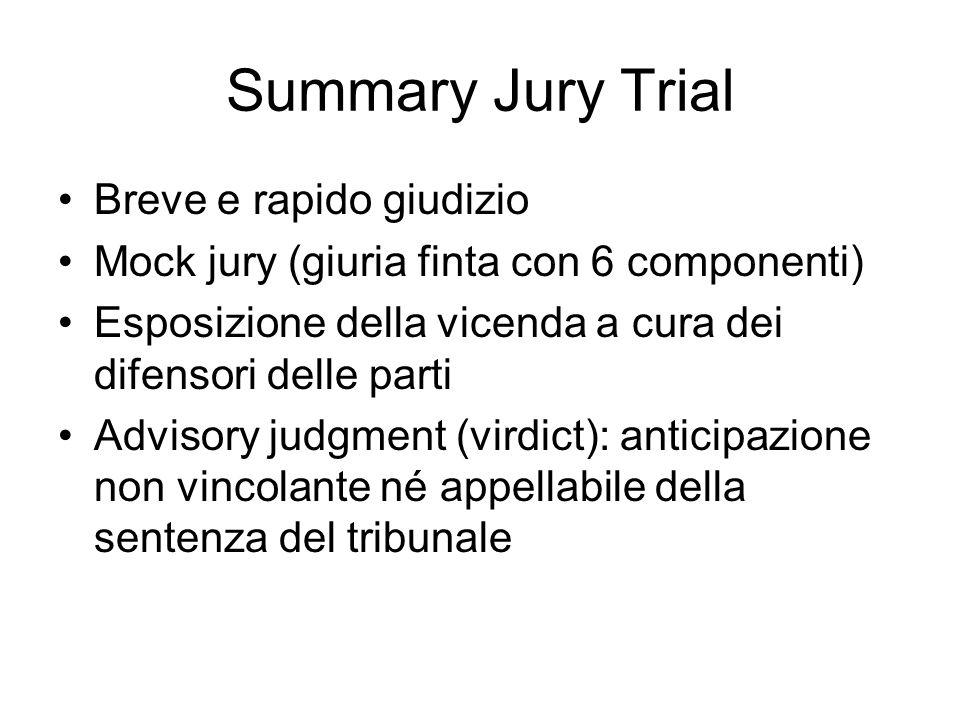Summary Jury Trial Breve e rapido giudizio
